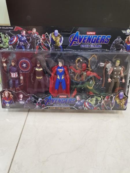 Набор супергероев Avengers End Game Union Legend 16 см (5 героев)
