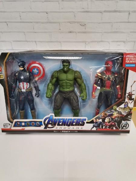 Набор супергероев Avengers Endgame 17 см (3 героя) со светом