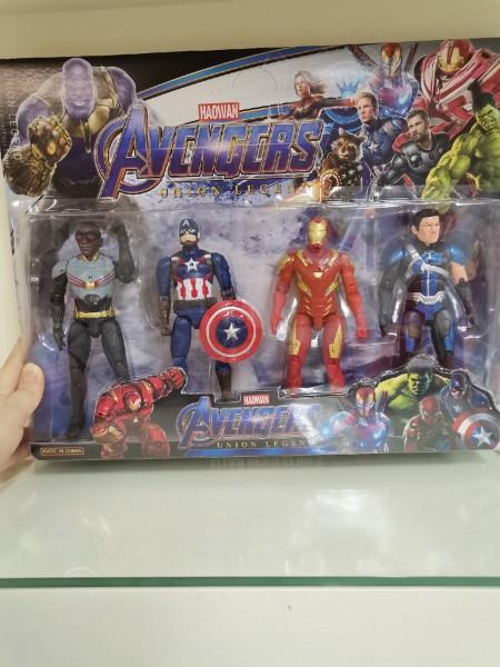 Набор супергероев Avengers Union Legend 17 см (4 героя) со светом