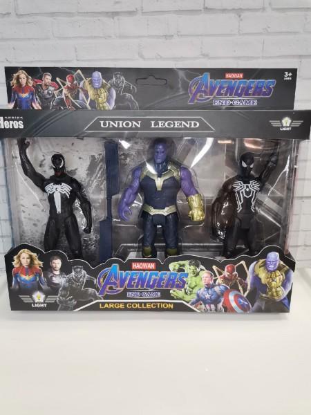 Набор супергероев Avengers End Game Union Legend 16 см (3 героя)