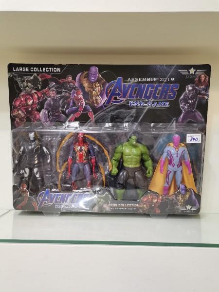 Набор супергероев Avengers Edgame 17 см (4 героя)