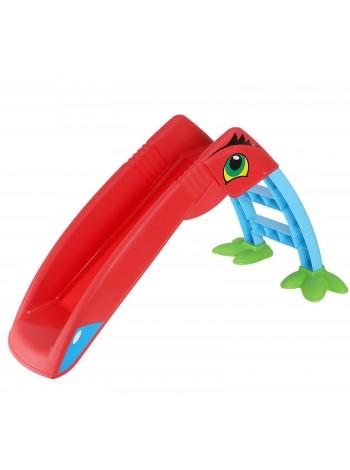 Горка детская Marian-Plast Пеликан красная